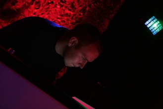 A supremely focussed DJ Big Xylo during soundcheck