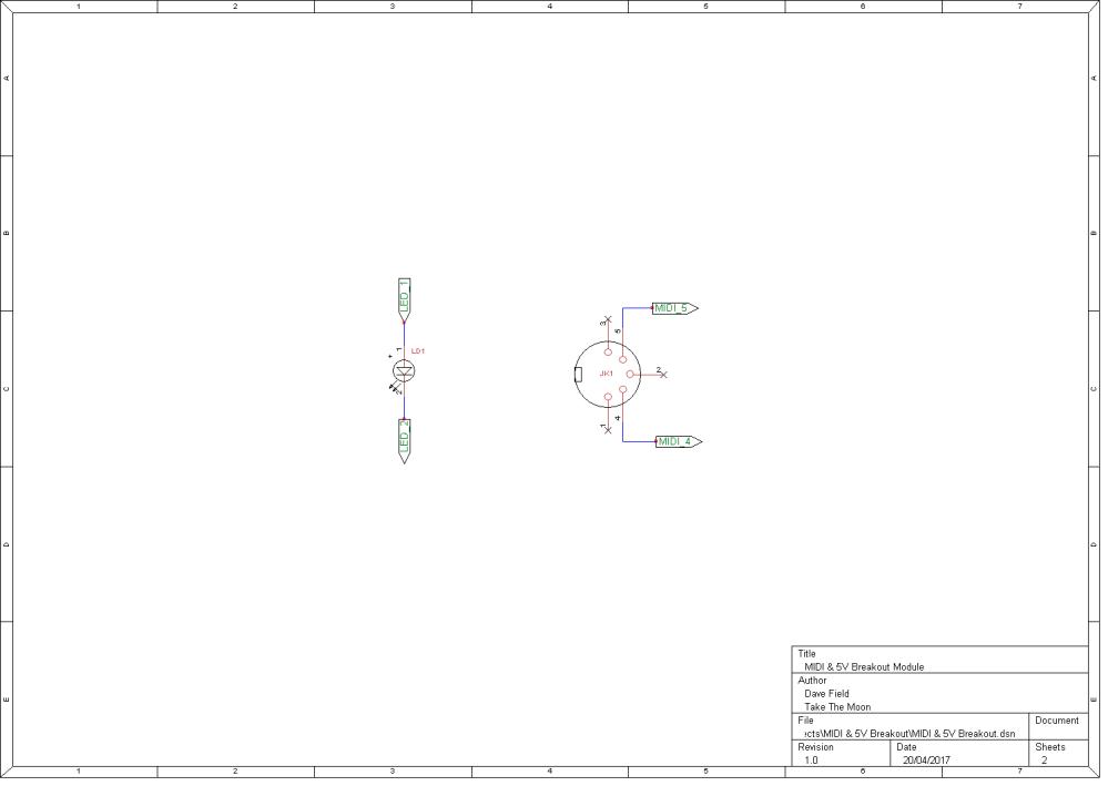 MIDI & 5V Breakout Schematic 2
