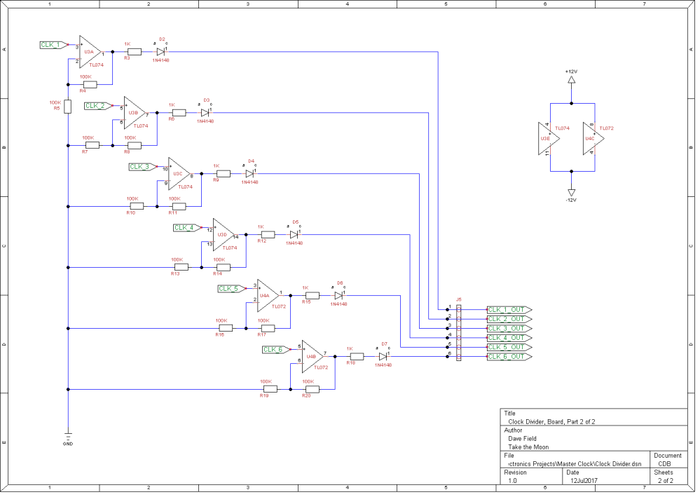 Clock Divider Schematic - Board 2 of 2