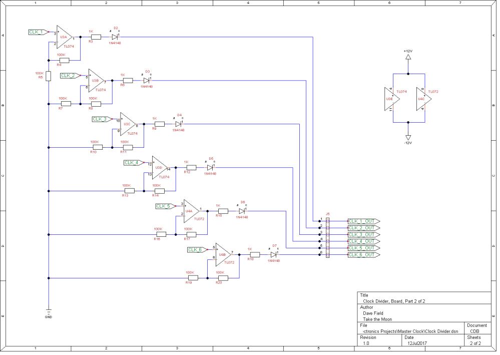 Clock Divider Schematic - Board 2 of 2