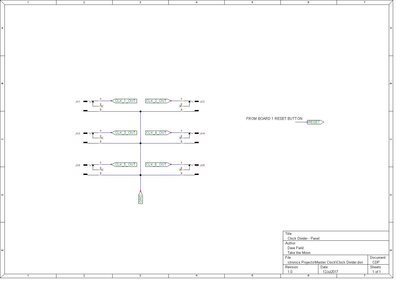 Diy Modular Synth Midi And Cv Master Clock Morocco Dave Panel Board Schematic Divider