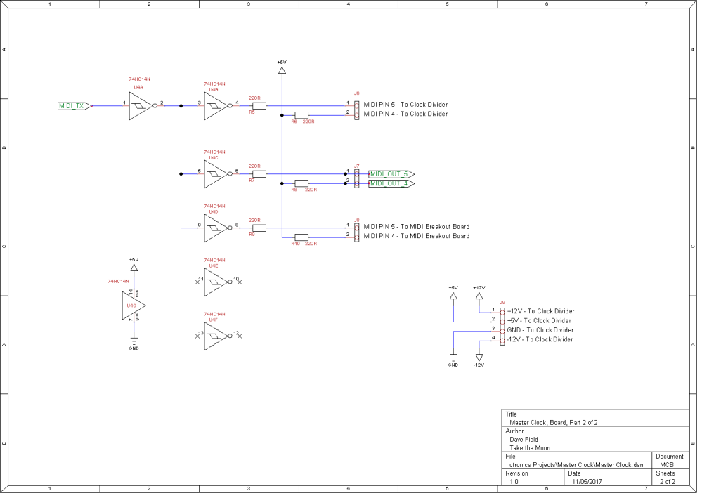 Master Clock Schematic - Board 2 of 2