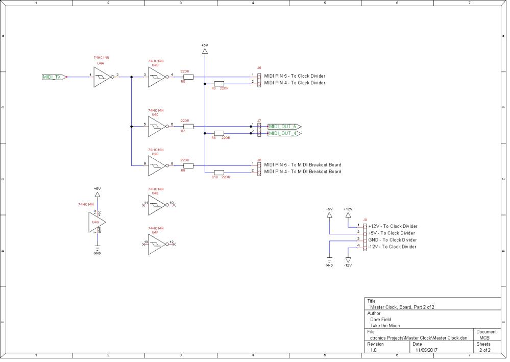 Master Clock Schematic - Board 2 of 2
