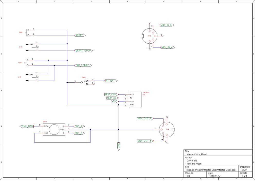 Master Clock Schematic - Panel
