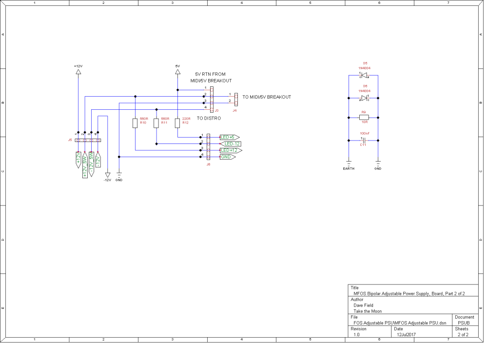 MFOS Adjustable PSU Schematic - Board Part 2