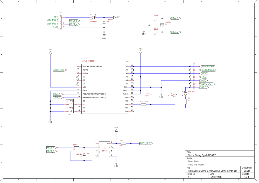 Solina String Synth Schematic - Board