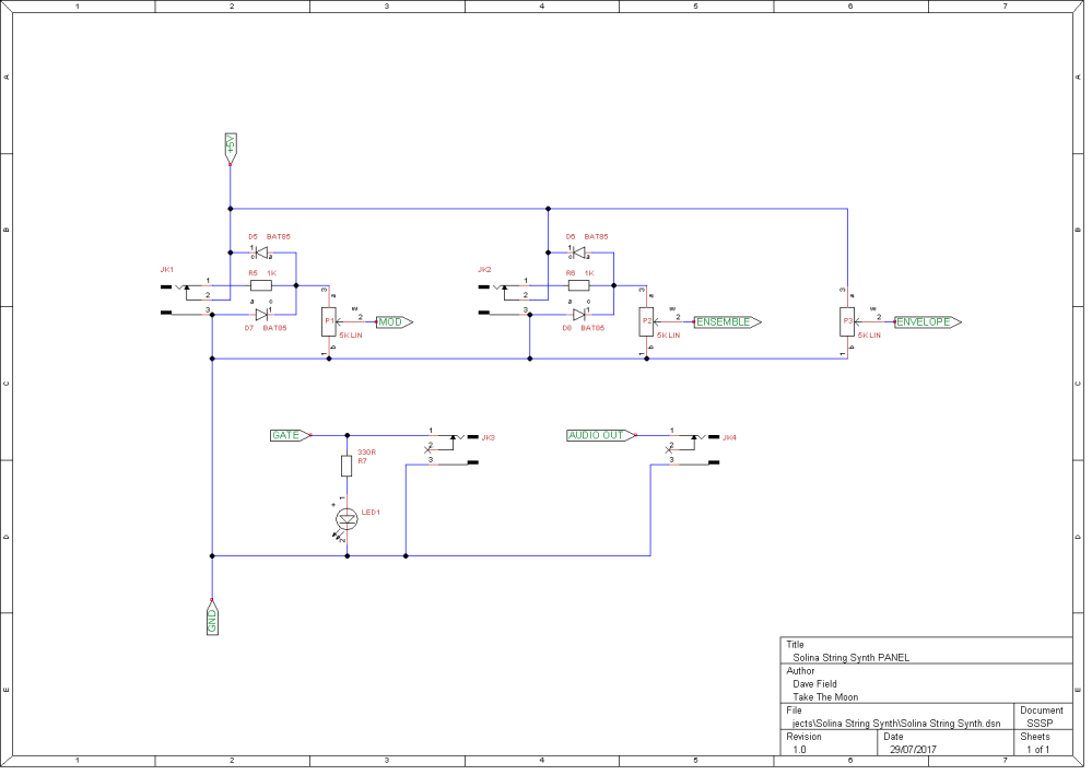 Solina String Synth Schematic - Panel
