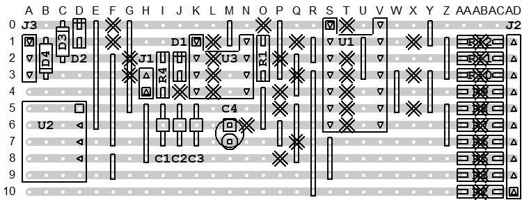 MIDI THRU v2 Board