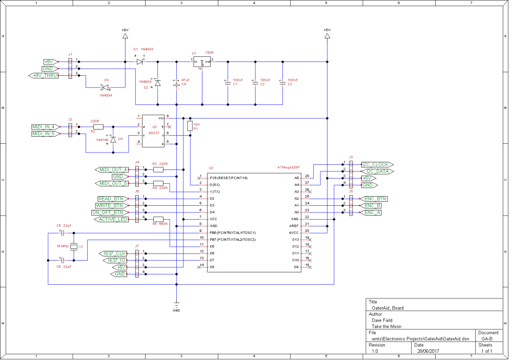 GaterAid Schematic - Board
